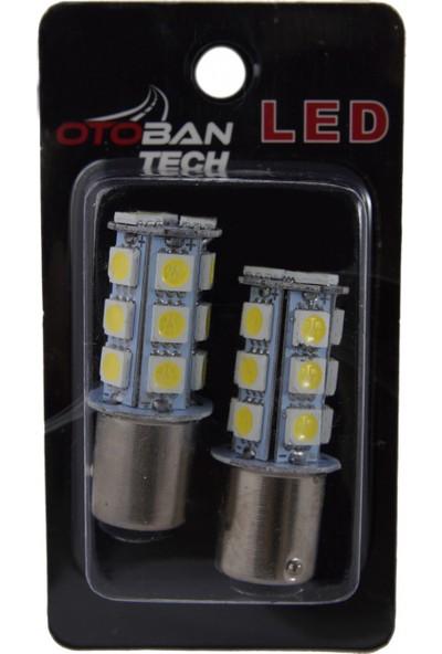 Otoban LED Park-Geri Vites Ampülü Çift Duy 18 Smd 1157 5050 12 V