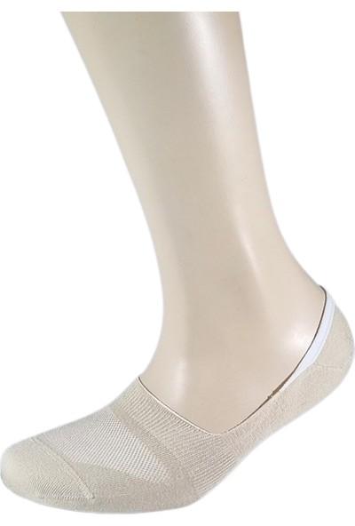 Fandd Erkek Bambu Silikonlu Görünmez Çorap Dikişsiz 4 Adet