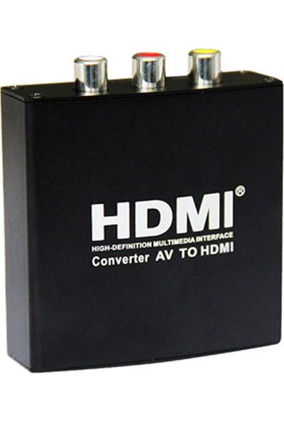 Gplus HDAV10 Av To Hdmı+Audiogörüntü Dönüştürücü