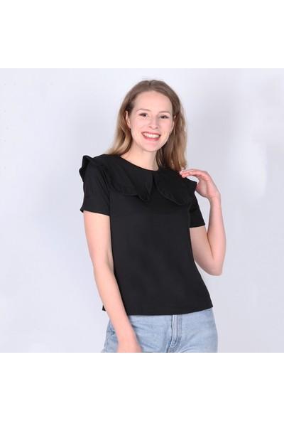 Meliana Bebe Yaka Fırfırlı Bluz