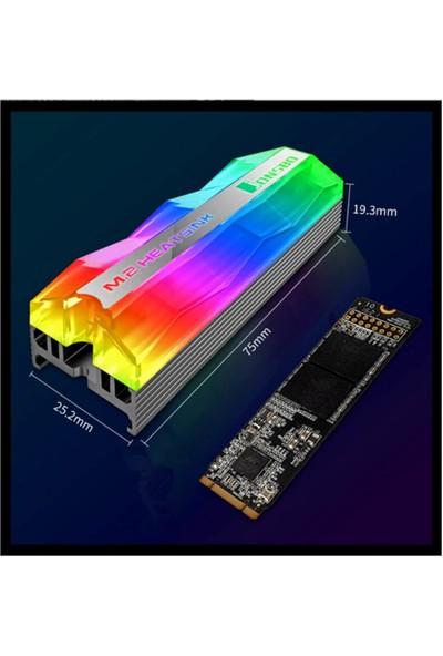 Wozlo Jonsbo M.2 2880 Ngff Nvme SSD Alüminyum M2 Soğutucu Termal Pedli Isı Emici Rgb 2 Pinli