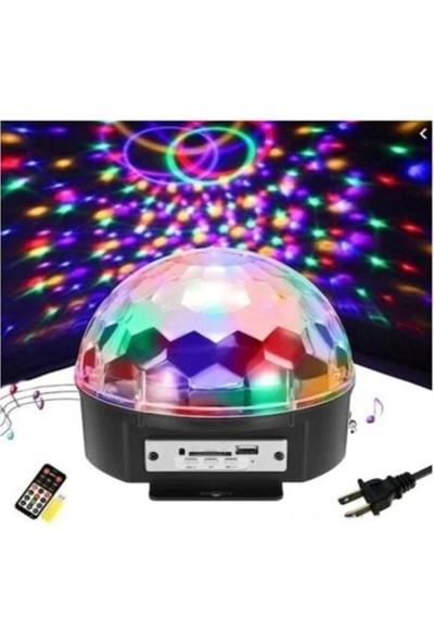 Hamaha Ledim Parti Malzemesi Sese Duyarlı Bluetoothlu LED Küre Disko Topu Renkli Işıklı Lazer