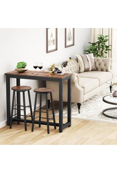 Yasmak Mutfak Bar Masası Set 2 Sandalyeli Yemek Masası Takımı Y100/C