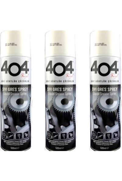 404 Gres Yağı Sıvı Sprey 500ML 3 Adet