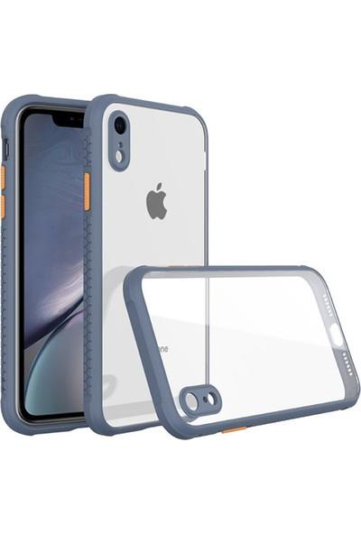 Moserini Apple iPhone Xr Miami Silikon Gri Telefon Kılıfı - Arka Kapak