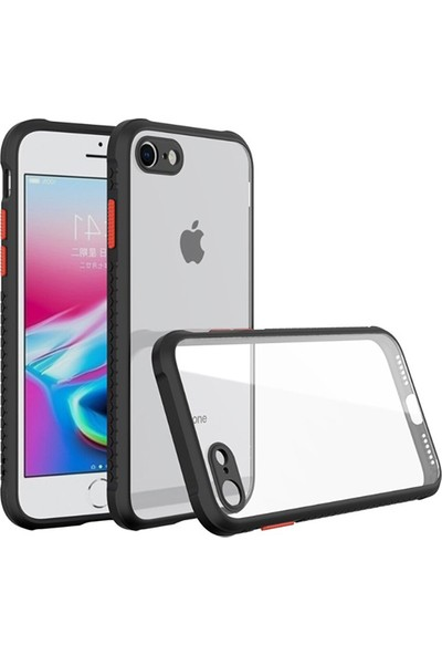 Moserini Apple iPhone Se 2020 (2. Nesil) Miami Silikon Siyah Telefon Kılıfı - Arka Kapak