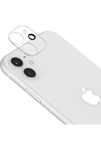 Bufalo iPhone 12 Mini Kamera Lens Koruyucu 3D Cam Şeffaf Tam Kaplama Şeffaf