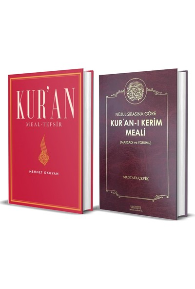 Kur'an Meal-Tefsir (Mehmet Okuyan) Kur'an-I Kerim Meali (Mustafa Çevik)