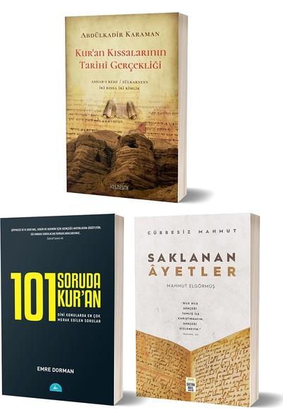 101 Soruda Kur'an & Kuran Kıssalarının Tarihi Gerçekliği & Saklanan Ayetler 3 Kitap Set