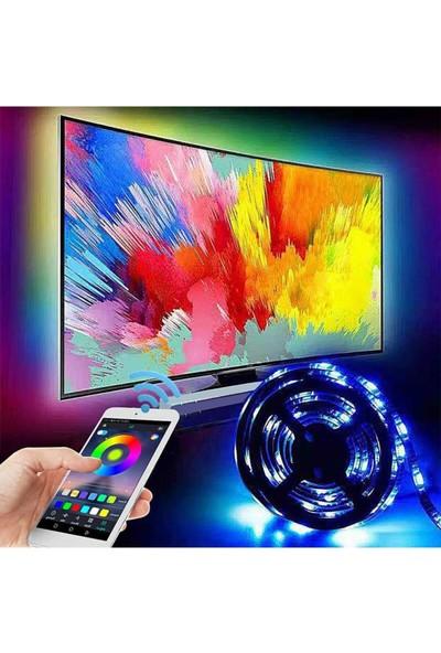Azemax Bluetooth Tv Arkası Rgb Usb Şerit Led Aydınlatma 16renk 3metre