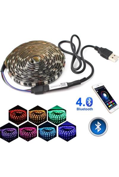 Azemax Tv Arkası Silikonlu Kumandalı Rgb Led Şerit 16 Renk 1metre