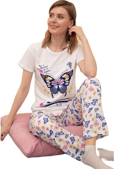 Rinda Bayan Kısa Kol Pijama Takımı