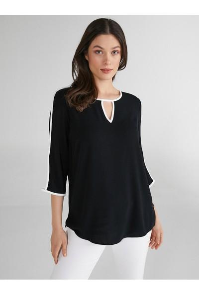 Faik Sönmez Kontrast Renkli Bluz 62155