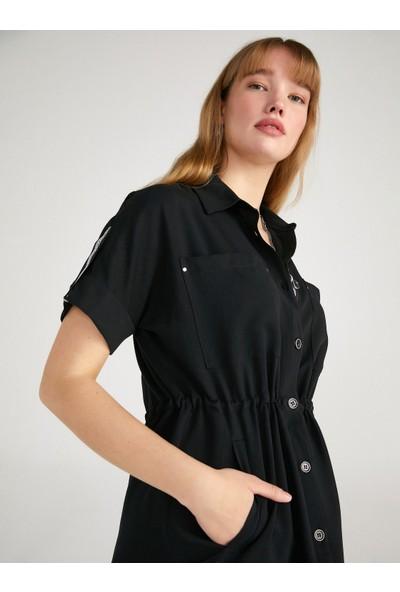 Faik Sönmez Cep Detaylı Kısa Kollu Overshirt Tunik 62564
