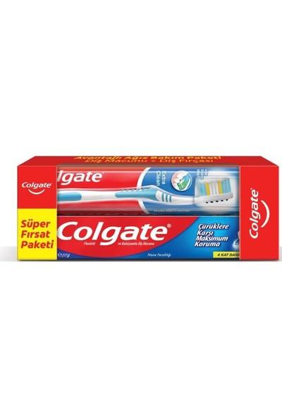 Colgate Avantajlı Ağız Bakım Paketi Diş Macunu+Diş Fırçası