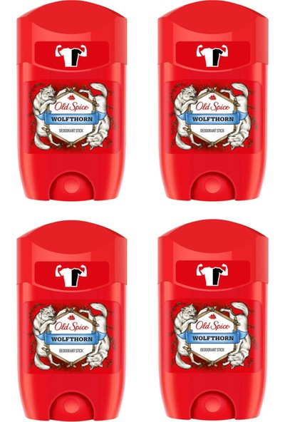 Old Spice Deo Stick 50 ml Wolfthorn x 4 Adet