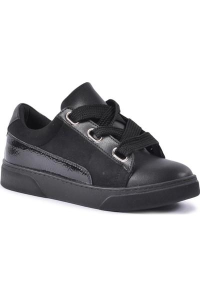 Park Moda 1040 Siyah-Süet-Rugan Kadın Spor Ayakkabı