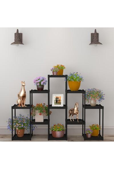 Moniev Işıl 11 Raflı Dekoratif Çiçeklik Saksı Standı