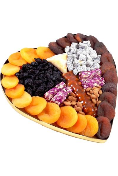 Kayısı Alemi Kalpli Sade Kuru Kayısı Paketi 1 kg