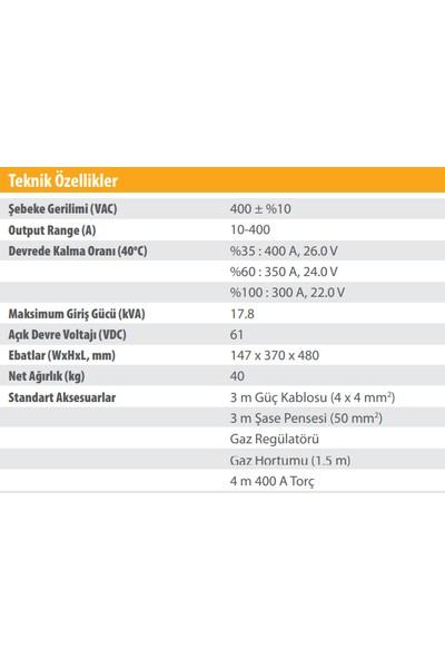 Kolarc T 400 Dc Pulse Tıg ve Örtülü Elektrod (Mma) Kaynak Makinası