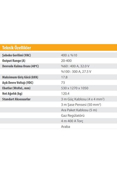 Kolarc M 400 Pulse Rapid Gazaltı (Mıg), Örtülü Elektrod (Mma) ve Tıg Kaynak Makinası
