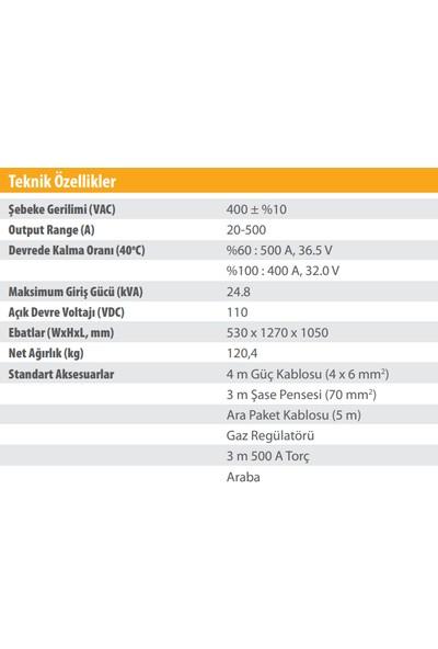 Kolarc M 500 W Pulse Gazaltı (Mıg), Örtülü Elektrod (Mma) ve Tıg Kaynak Makinası
