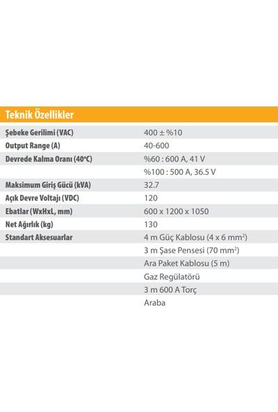 Kolarc Km 600 W Pulse Gazaltı (Mıg), Örtülü Elektrod (Mma) ve Tıg Kaynak Makinası