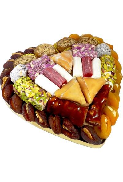 Kayısı Alemi Kalpli Lüks Kuru Kayısı Paketi 1,7 kg