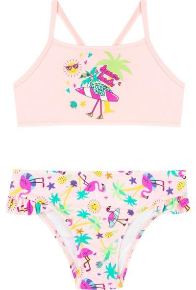 Penti Çok Renkli Kız Çocuk Flamingo Halter Bikini Takımı