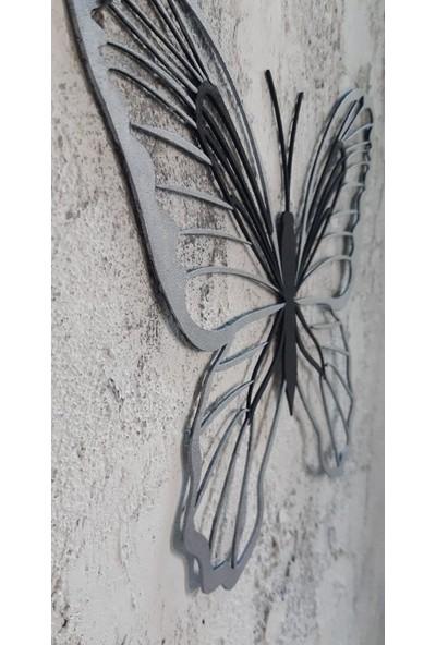 Aduşka Metal Kelebek Seti Gümüş