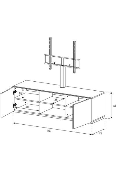 Sonorous 1150 Mol Mol LCD & LED Televizyon Sehpası