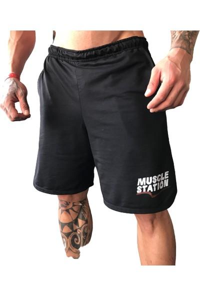 Muscle Station Tayt Hediyeli Musclestation Toughman Fitness Workout Erkek Şort