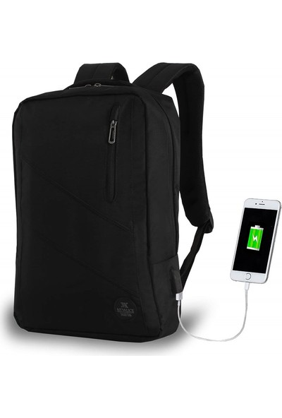 My Valice Smart Bag USB Şarj Girişli Akıllı Sırt Çantası 1209 Siyah