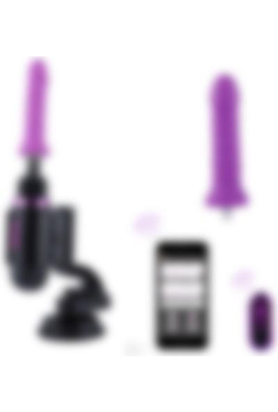 Hismith Elde Taşınabilir Premium Seyahat Çantalı Uygulama Kontrolü Mini Seks Makinesi