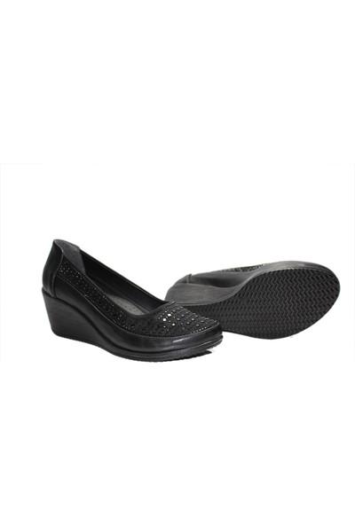Mavişim 400 Günlük Dolgu Taban Taş Desenli Kadın Anne Ayakkabı