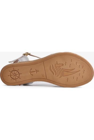 Park Fancy 102 Beyaz Kadın Sandalet