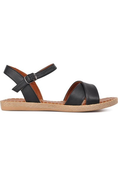 Park Fancy 102 Siyah Kadın Sandalet