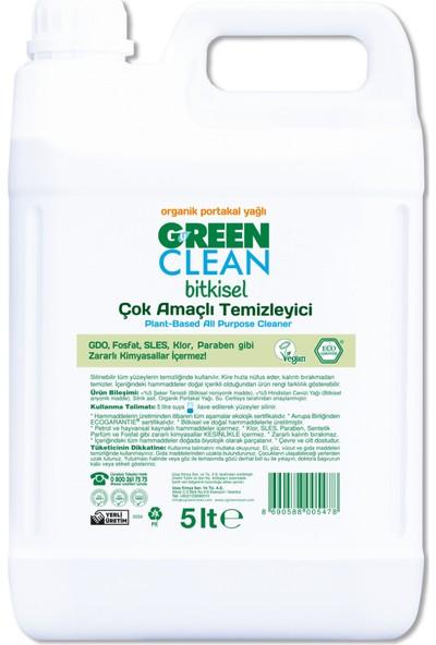 Green Clean Organik Portakal Yağlı Çok Amaçlı Bitkisel Temizleyici 5 Lt