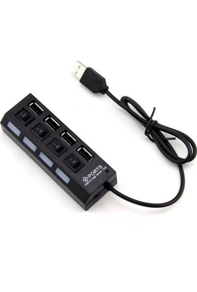 Suba 4 Port USB 2.0 Anahtarlı Çoğaltıcı Hub