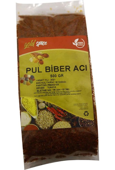 Gold Spice Pul Biber Acı 500 gr