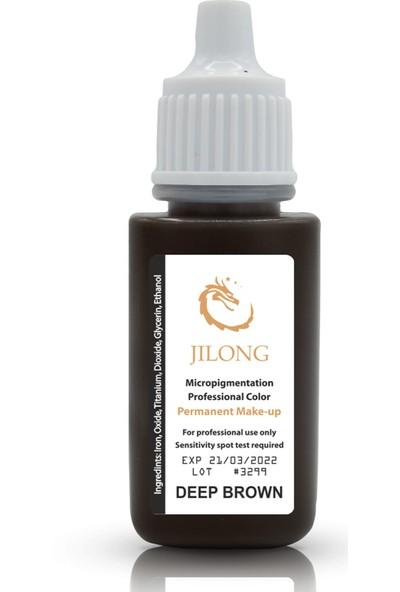 Jilong Kalıcı Makyaj Pigmenti Deep Brown 17 ml