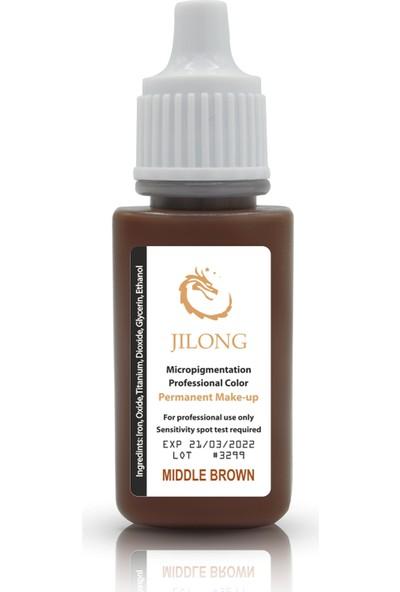 Jilong Kalıcı Makyaj Pigmenti Middle Brown 17 ml