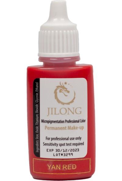 Jilong Kalıcı Makyaj Pigmenti Yan Red 17ML Microblading ve Kalıcı Makyaj Boyası