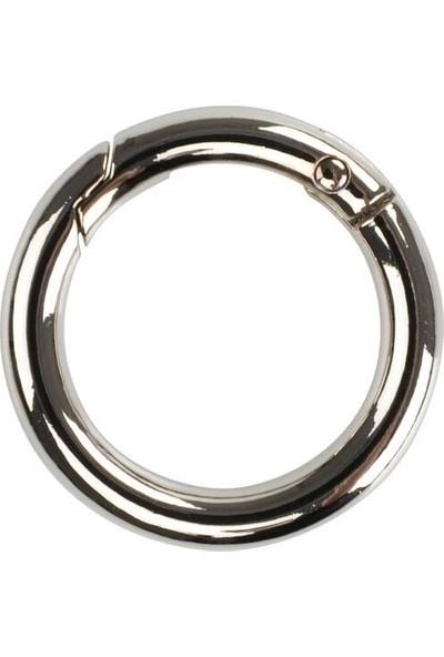Mir Plastik Metal Yaylı Halka 2,5 cm | Gümüş
