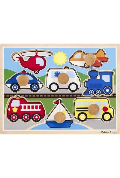 Melissa&doug Ahşap Jumbo Boy Tutamaçlı Araçlar Puzzle