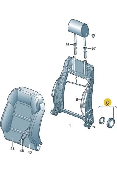 Gkl Vw Caddy 2004 - 2008 Koltuk Sırt Yatırma Makarası Gri