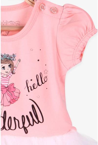 Breeze Kız Bebek Elbise Baskılı Tütü Etekli Somon (1 Yaş)