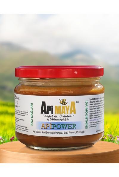 Apimaya Apipower Ham Bal, Propolis, Taze Polen, Arı Sütü, Arı Ekmeği - Perga 325 gr