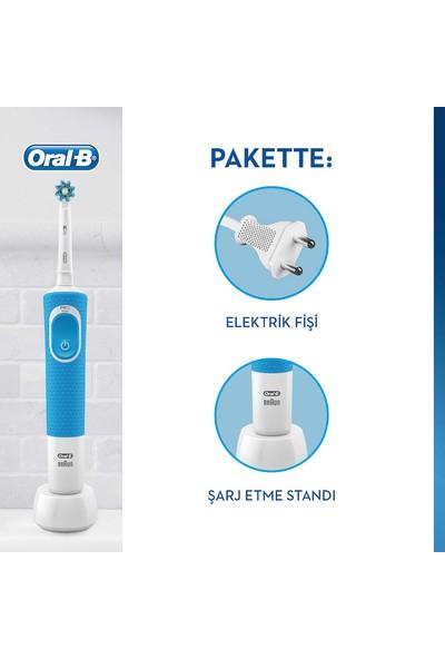 Oral-B D100 Şarjlı Diş Fırçası Cross Action Mavi + Pro Onarım Diş Macunu 50 ml