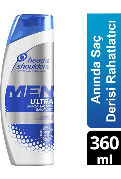 Head & Shoulders Men Ultra Erkeklere Özel Kepek Karşıtı Şampuan Anında Saç Derisi Rahatlatıcı 360 ml